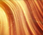 Orange streams of light with shining stars — Stock Photo