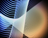 Colorful volute of lines — Stock Photo