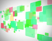 Green and red rectangles moving — Stock Photo
