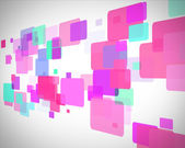 Pink and turquoise rectangles moving — Stock Photo