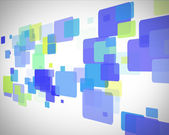 Green and blue rectangles moving — Stock Photo