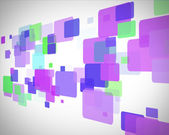 Purple and green rectangles moving — Stock Photo