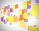 Yellow and blue rectangles moving — Stock Photo