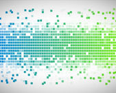 Blauwe en groene vierkantjes — Stockfoto