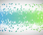 Zelené a modré čtverce — Stock fotografie