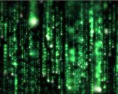Líneas de letras borrosas verdes cayendo — Foto de Stock