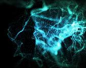Tempo indeterminate forme di luci verdi — Foto Stock
