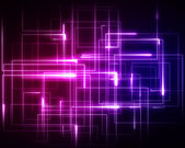 Multiple pink and blue geometric lights — Stock Photo