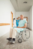 Male patient in a wheelchair — Stock Photo