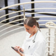 High angle view of a doctor using a tablet computer — Stock Photo #14151884