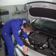 Stock Photo: Mechanic repairing a car