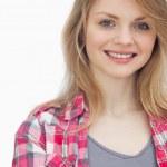 Blonde woman smiling — Stock Photo #14154019