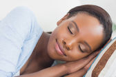 Black woman with closed eyes — Stock Photo