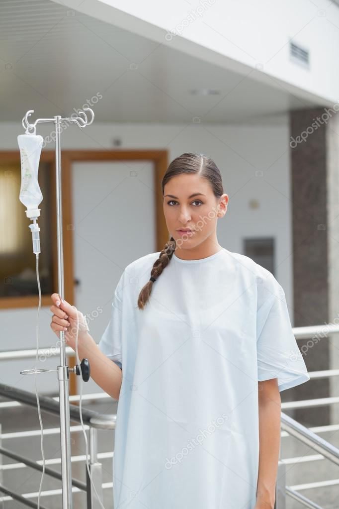 Disable patient walking in the corridor in hospital — Stock Photo #14151909