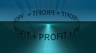 Stock Animation - Profit Orbit — Stock Video