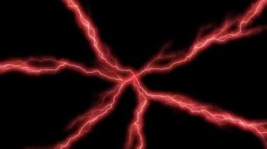 Red Lightning — Stock Video