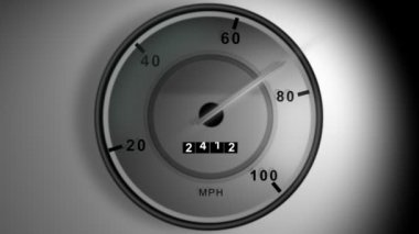 Speedometer still — Stock Video