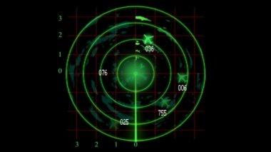 Radar monioring plane — Stock Video