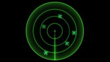 Radar screen — Stock Video