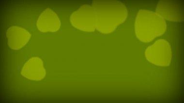 Love Hearts Green — Stock Video