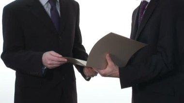 Business Stock Footage of Two Businessmen — Stock Video