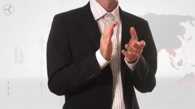 Stock Footage of a Business Man Applauding — Stock Video