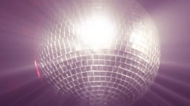 Stock Footage of a Disco Ball — Stock Video