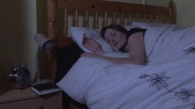 Stock Footage of a Woman Sleeping — Stock Video