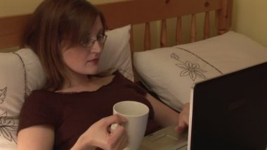 Stock Footage of Woman Relaxing at Home