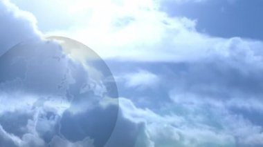 Stock Animated Background of Globe and Clouds