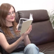 Stock Video of a Woman Reading — Stock Video