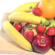 estoque tiro vídeo de frutas em um estúdio — Vídeo Stock