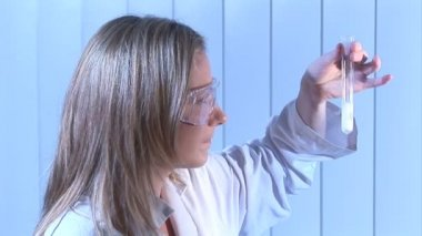 Stock Footage of a Biochemist — Stock Video