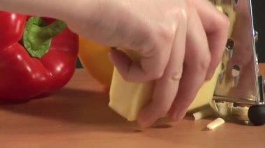 Grattugia formaggio — Video Stock