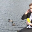 Business woman Relaxing outdoors — Stock Video #14607113