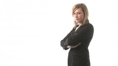 Colpo di studio di una donna d'affari — Video Stock