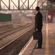 Man waiting at a train Station — Stock Video #14619087