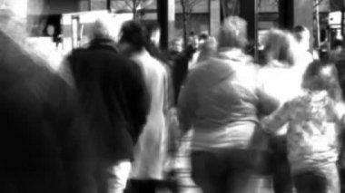 Stock Video Footage of a Crowd of Walking in a city