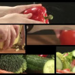 Vegetable Montage — Stock Video