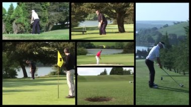 Stock Video Footage of Playing Golf — Stock Video
