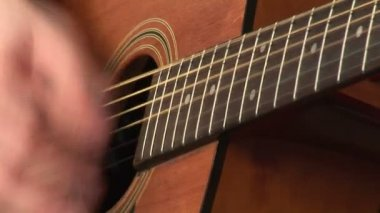 Playing Accoustic Guitar — Stock Video
