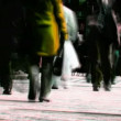 Abstract crowd walking — Stock Video #14792717