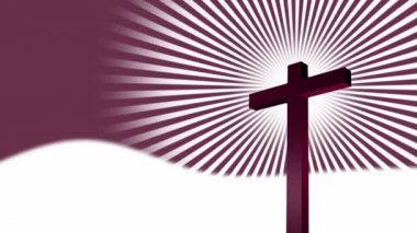 Svatý kříž abstrakt — Stock video