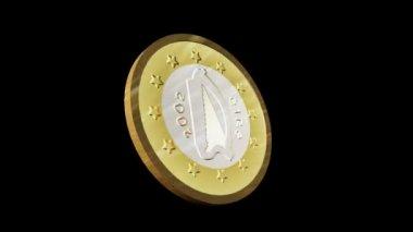Animation 3d sans faille d'une pièce de monnaie euro — Vidéo
