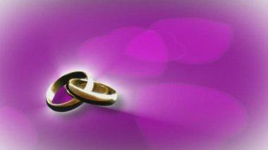 3D Animation of a Wedding Ring — Stock Video