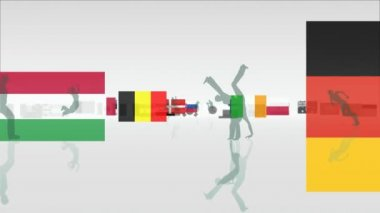 Sports Flags — Video Stock