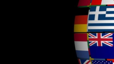 Globe made from Flags — Video Stock