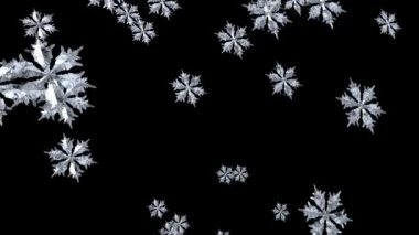 Floating Snowflake seamless — Stock Video