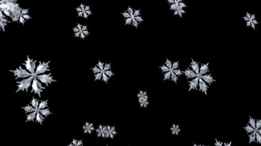 3d Christmas Background of a Floating Snowflake - seamless