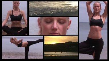 Aantrekkelijke vrouw doen yoga — Stockvideo